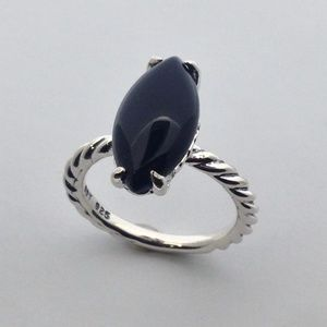 David Yurman Cable Ring with Black Onyx